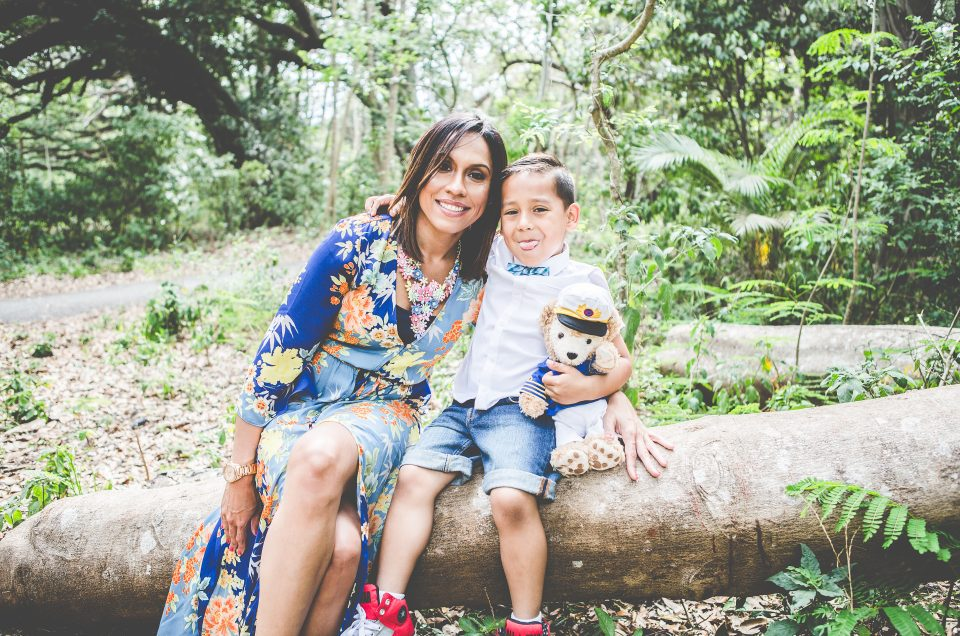 Mother and Son Photography Session at Robbins Park in Davie, Fl