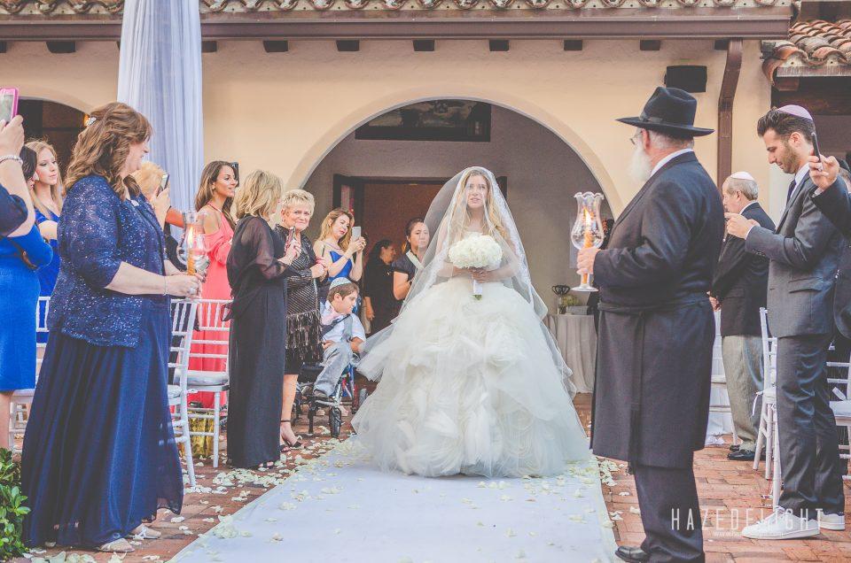 Raizel & Meyer: Jewish Wedding Photography at The Bath Club, Miami, Fl