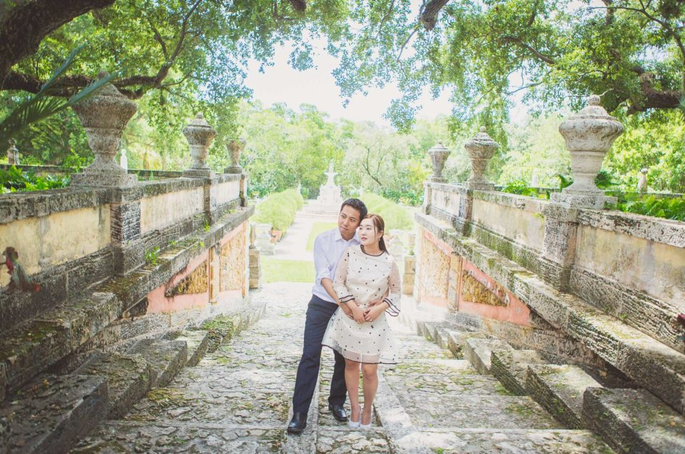 Jennifer & Steven: Engagement Photo Session, Vizcaya Museum, Miami, Fl