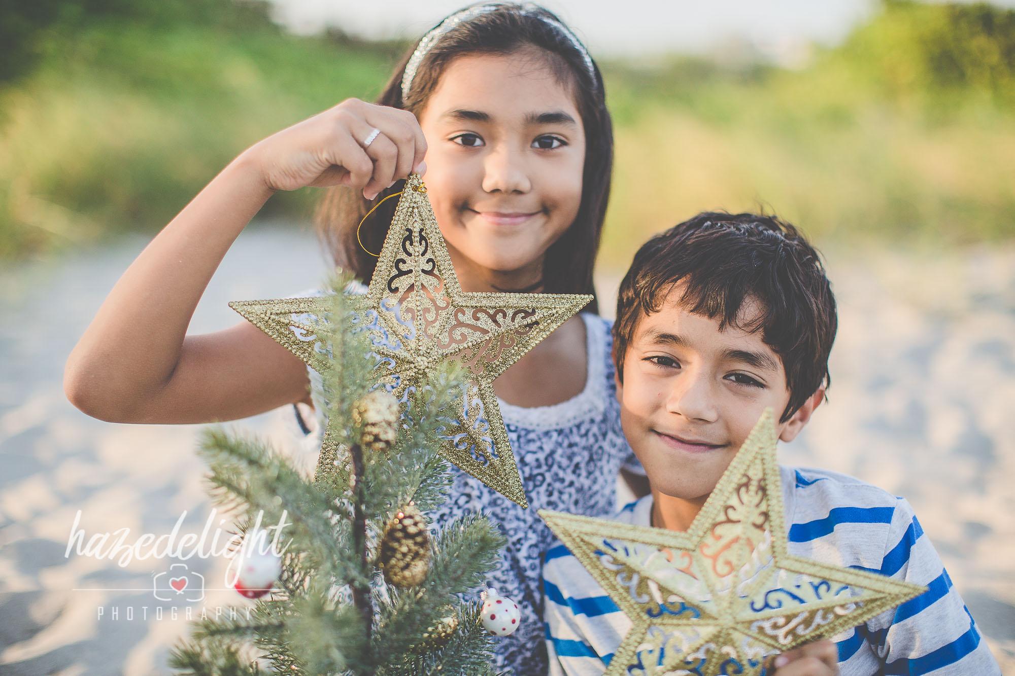 Maya & Marcus: Christmas on the Beach Photo Session at Dania Beach Pier, Fl