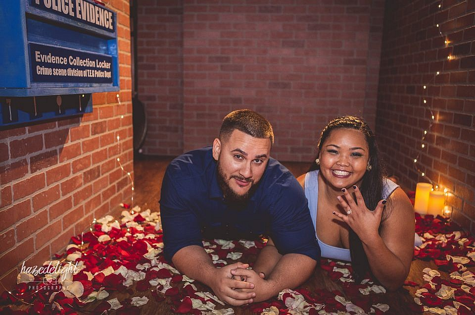 Kelsy  & Victor: Marriage Proposal Surprise at Think Escape Games in Fort Lauderdale, Fl.