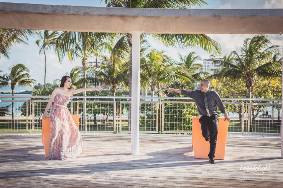 Thuy & Mel: Engagement Photo Session At The South Pointe Park, Miami, Fl