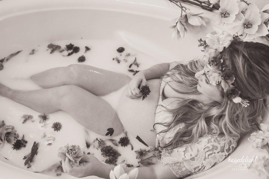 Maternity Boudoir Milk Bath Photo Shoot Davie Fl